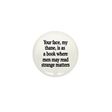 Book Face Mini Button (100 pack)