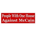 People With One House Against McCain sticker