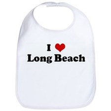 I Love Long Beach Bib