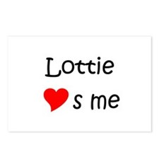 Love lottie Postcards (Package of 8)