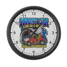 Sprint Car Life Large Wall Clock