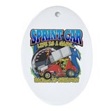 Sprint Car Life Oval Ornament