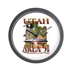 Utah The New Area 51 Wall Clock