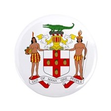 Jamaica Coat Of Arms 3.5 inch Button