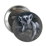 "Ring-tailed lemur infant ""Elfin"" 2.25"" Button"