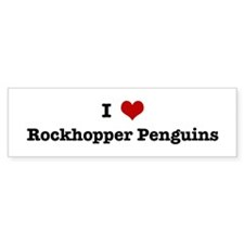 I love Rockhopper Penguins Bumper Bumper Sticker