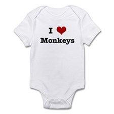 I love Monkeys Infant Bodysuit