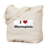 I love Marsupials Tote Bag