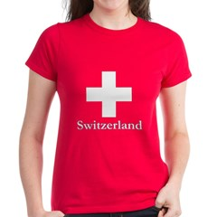 Swiss Cross-2 Women's Dark T-Shirt