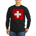 Swiss Cross-1 Long Sleeve Dark T-Shirt