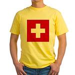 Swiss Cross-1 Yellow T-Shirt