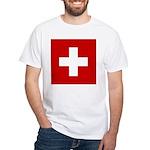 Swiss Cross-1 White T-Shirt