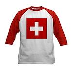 Swiss Cross-1 Kids Baseball Jersey