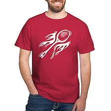 Flaming Badminton T-Shirt