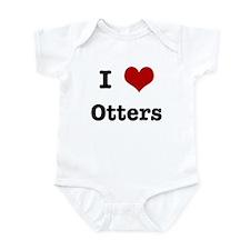 I love Otters Infant Bodysuit