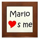 Name is marlo Framed Tile