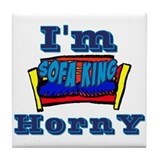 Sofa King Horny Blue Tile Coaster