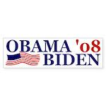 Obama-Biden '08 flag bumper sticker