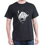 Taurus Zodiac Astrology Tattoo (Front) T-Shirt