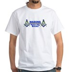 Masonic Have Big Bricks White T-Shirt