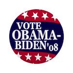 """Vote Obama-Biden '08 3.5"""" Button"""