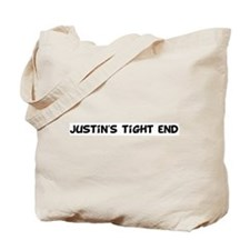 Justin's tight end Tote Bag