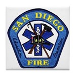 San Diego Fire Tile Coaster