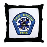 San Diego Fire Throw Pillow