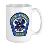San Diego Fire Large Mug