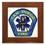 San Diego Fire Framed Tile