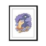 Cute Nightcrawler Worm Framed Panel Print