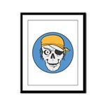 Colored Pirate Skull Framed Panel Print