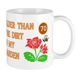 Gardener's 70th Birthday Coffee Mug