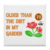 Gardener's 70th Birthday Tile Coaster