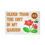 65th birthday Rectangular Magnet