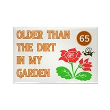 Gardener's 65th Birthday Rectangle Magnet (100 pac