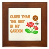 Gardener's 60th Birthday Framed Tile