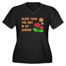 Gardener's 50th Birthday Women's Plus Size V-Neck