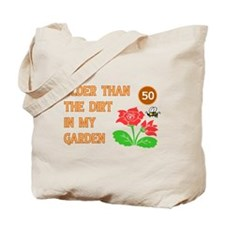 Gardener's 50th Birthday Tote Bag