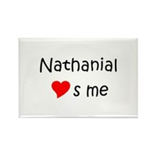Unique Heart nathanial Rectangle Magnet