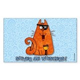 pirate kitty Rectangle Decal