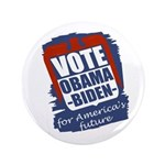 """Obama-Biden America's Future 3.5"""" Button"""