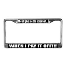 Funny Mercedes smart car License Plate Frame