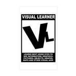 Visual Learner Rectangle Sticker 10 pk)