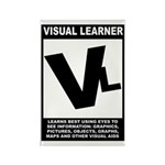 Visual Learner Rectangle Magnet (10 pack)