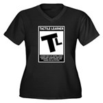 Tactile Learner Women's Plus Size V-Neck Dark T-Sh
