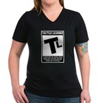 Tactile Learner Women's V-Neck Dark T-Shirt