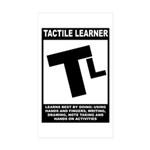 Tactile Learner Rectangle Sticker 10 pk)