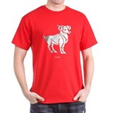 Aries Zodiac Astrology Tattoo (Front) T-Shirt