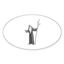 Wise Man Oval Sticker (10 pk)
